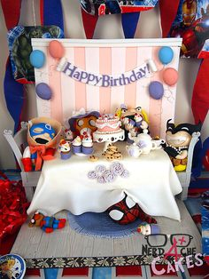 The Most Adorable Avengers Tea Party Cake You'll Ever See, great idea for a geek baby shower!!