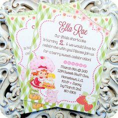 Vintage Inspired Strawberry Shortcake Birthday Invitations - Set of 10 by LittlePaperFarmhouse on Etsy https://www.etsy.com/listing/176830794/vintage-inspired-strawberry-shortcake