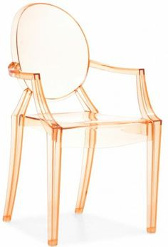 These acrylic chairs are amazing. Especially in the transparent orange color