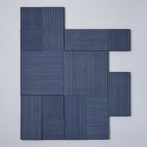 Wall-mounted decorative panel / fabric / textured / 3D effect