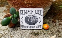Miniature halloween sign dollhouse pumpkin sign by DewdropMinis Halloween Signs, Halloween Pumpkins, Witch Pictures, Dollhouse Accessories, Made Of Wood, Picture Show, Hand Stamped, Dollhouse Miniatures, Hand Painted