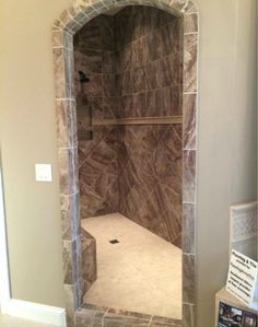 Master Bathroom No Door walk in shower ideatammy adams usrey | rustic bathrooms