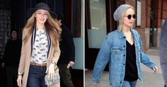Blake Lively and Jennifer Lawrence both left the Greenwich Hotel on Friday, Feb. 19, modeling different styles; vote for your fave!