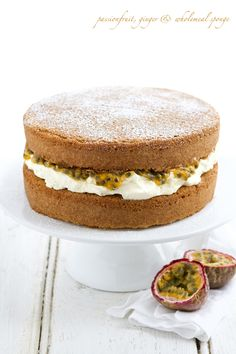 Passionfruit, Ginger, & Wholemeal Sponge | Two Year Bloggerversary, Spring Colours on mowielicious
