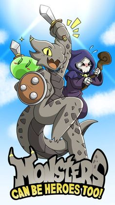 Monsters Can Be Heroes Too! by RakkuGuy on DeviantArt Anime Monsters, Cute Monsters, Character Concept, Character Art, Character Design, Dungeons And Dragons Memes, Dragon Memes, Furry Comic, Creature Drawings
