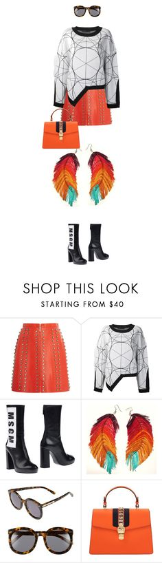 """""""eva0984"""" by evava-c ❤ liked on Polyvore featuring Elie Saab, Jean-pierre Braganza, MSGM, Karen Walker and Gucci"""