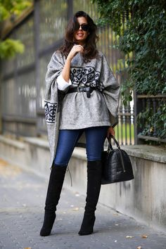 Grey And Black Aztec Print Poncho Shape Sweater  # #1sillaparamibolso #Fall Trends #Fashionistas #Best Of Fall Apparel #Sweater Poncho Shape #Poncho Shape Sweaters #Poncho Shape Sweater grey And Black #Poncho Shape Sweater Aztec Print #Poncho Shape Sweater Clothing #Poncho Shape Sweater 2014 #Poncho Shape Sweater Outfits #Poncho Shape Sweater How To Style