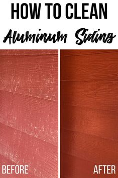 Remove years of dirt and grime in just minutes! I'll show you how to clean aluminum siding without a power washer! Turns oxidized aluminum siding back to its original state in just minutes! Check out my tips at The Handyman's Daughter! Deep Cleaning Tips, House Cleaning Tips, Spring Cleaning, Cleaning Hacks, Cleaning Aluminum Siding, Painting Aluminum Siding, What Is Like, That Way, How To Clean Aluminum
