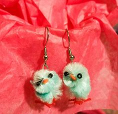 Check out this item in my Etsy shop https://www.etsy.com/listing/271062483/blue-easter-chick-dangle-earrings