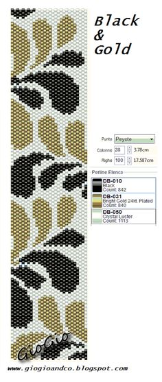 GioGio: Griglie/pattern peyote -- could be embroidered? Peyote Beading Patterns, Peyote Stitch Patterns, Seed Bead Patterns, Beaded Bracelet Patterns, Weaving Patterns, Loom Beading, Jewelry Patterns, Seed Bead Tutorials, Bookmarks