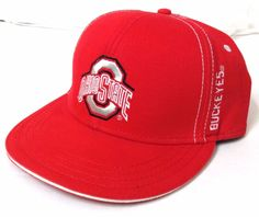 283c8721c6a OHIO STATE BUCKEYES SNAPBACK HAT Red Flat-or-Curved-Bill Men Women   Signatures  OhioStateBuckeyes