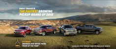 Who is the Fastest Growing Pickup Brand of 2015? You're looking at it.  Chevrolet Cadillac of Santa Fe www.santafechevroletcadillac.com