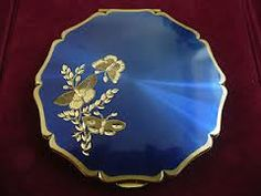 vintage compacts butterfly