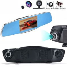 Aggressive 4.3 Hd 1080p Dual Lens Car Dvr Rear View Mirror Led Camera Videodriving Recorder Other Safety & Security Safety & Security