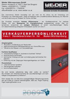 Verkäuferpersönlichkeit in #Baden-Württemberg gesucht #wärmepumpen