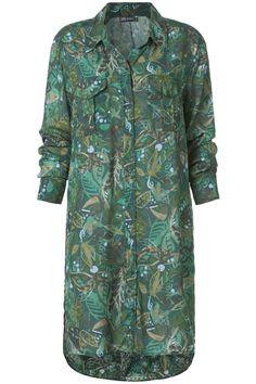 Lange geprinte blouse Groen