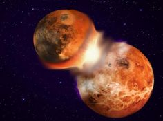 Earth Moon Collision Facts - The Earth Images Revimage. Earth And Space Science, Earth From Space, Dark Side Of Moon, Moon Facts, Mars, Next Generation Science Standards, Universe Today, Nature Study, Creating A Blog