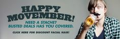 Happy Movember! Make a difference! Be sure to visit and LIKE our Facebook page at https://www.facebook.com/drmurraymovember