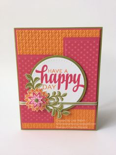 Sketch & color combo (MOJO Monday) At Home Stamping: A Happy Day with My New Stamps