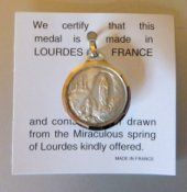 Our Lady of Lourdes Gold,Virgin Mary water Pendant, containing actual Lourdes Water drawn from the m Silver Pendants, Gold Pendant, St Bernadette Soubirous, Lourdes France, Catholic Medals, Water Drawing, Our Lady Of Lourdes, Miraculous, Flask