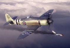 Hawker Sea Fury over Korea