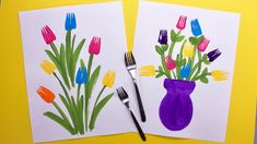 Mothers Day Crafts For Kids, Spring Crafts For Kids, Summer Crafts, Art Activities For Kids, Preschool Crafts, Kids Crafts, Painting Activities, Summer Activities, Family Activities