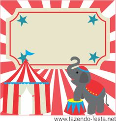 kit festa circo caixa acrílico