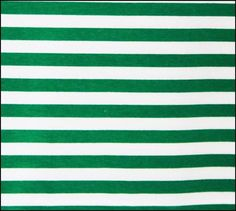 Peppermint Green and White 1/2 Inch Wide Stripes Cotton Lycra Knit Jersey Fabric