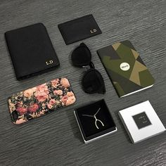@lucianaadewi shows us her black passport and card holder with initials in gold. Get yours at www.deriwe.com ✈️ #Deriwe