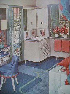 Bathroom 1950's style