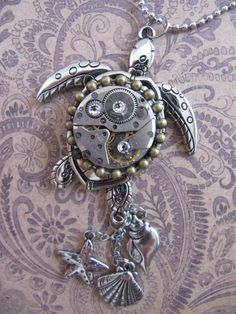 Steampunk Turtle Steampunk Jewelry Steampunk by LuckySteamPunk