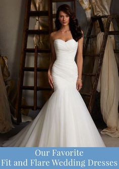 White/Ivory Mermaid Wedding Dress, Organza Bridal Gown, Off-Shoulder Wedding Gown, Tulle Bridal Dresses - Those pleats! Affordable Wedding Dresses, Designer Wedding Dresses, Bridal Dresses, Mermaid Dresses, Bridesmaid Dresses, Mermaid Skirt, Lace Mermaid, Prom Dresses, Wedding Dresses Fit And Flare
