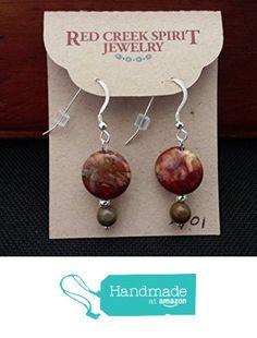 Red Creek Jasper Earrings with French Wires from Red Creek Spirit Jewelry http://www.amazon.com/dp/B016B1XAK8/ref=hnd_sw_r_pi_dp_myBgwb0VPYTW8 #handmadeatamazon