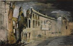 kutxx: John Piper Somerset Place, Bath graphite, ink and gouache on paper, Tate Gallery Urban Landscape, Landscape Art, Landscape Paintings, John Piper Artist, Somerset Place, Bath Somerset, Victoria Art, Coventry Cathedral, Building Painting