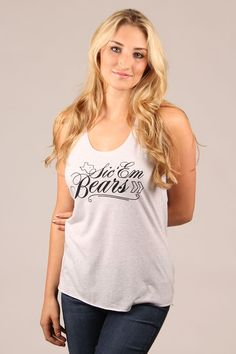 #Baylor #SicEm Script Tank Top in White | Original College Jeans - OCJ Apparel