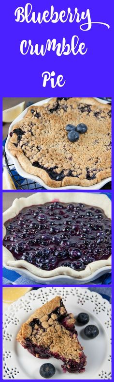 blueberry crumble pie | blueberry pie | best ever blueberry pie | pie recipes | crumble topping | blueberry streusel | blueberry recipes | blueberries