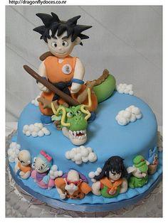 Dragon Ball cake/ Bolo Dragon Ball by Dragonfly Doces, via Flickr