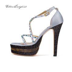 Octagon IV #heels yellowladybird korean independent designer k-pop luxury strap platform