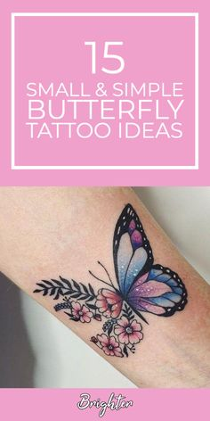 Tattoos For Women Cat, Butterfly Tattoos For Women, Sleeve Tattoos For Women, Butterfly With Flowers Tattoo, Butterfly Wrist Tattoo, Butterfly Tattoo Designs, Pretty Tattoos, Unique Tattoos, Cute Tattoos