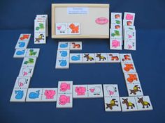Dominos - Juguetes didácticos, material didáctico, jardin de infantes, nivel inicial, Juegos, Juguetes en madera Sensory Book, Busy Book, Montessori Toys, Preschool Learning, Math Lessons, Educational Toys, Games, Ideas, Visual Arts