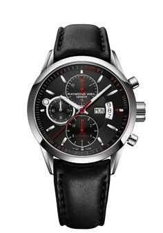 Freelancer 7730-STC-20041 Mens Watch - Freelancer Automatic chronograph Steel on black leather strap black dial | RAYMOND WEIL Genève Luxury Watches http://www.raymond-weil.com/EN/Mens-Watches/Freelancer/Freelancer-7730-stc-20041.html