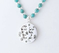 Footprint Quote Necklace - Inside says: When you see only one set of footprints, it was then that I carried you.