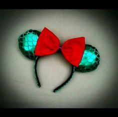 The Little Mermaid Ariel Minnie Mouse Ears by LaPetiteZombie