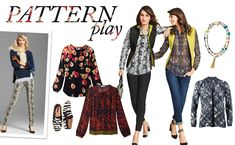 We're seeing a pattern when it comes to blouses, pants, and jackets. Actually, we're seeing a few – paisleys, confettis, and skins – we love them mixed, not matched. Make this look even more luxe with furs, puffers, and quilting.  CAbi items: Zipper Pullover, Essential Tank, Diamondback Super Skinny Jean, Poppy Blouse, Border Wrap, Travel Reversible Vest, Snakeskin Blouse, Audrey Pant, Festival Blouse, Comet Wash Tapered Boyfriend, Tassel Necklace, Fatale Blouse