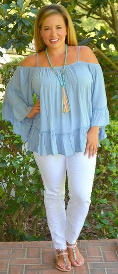 Bella Blue Top - Perfectly Priscilla Boutique