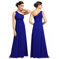 vestido corte imperio azulino de un hombro