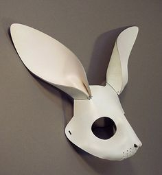 leather bunny mask