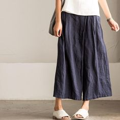 Korean Style Casual Trousers Linen Pants K2165A