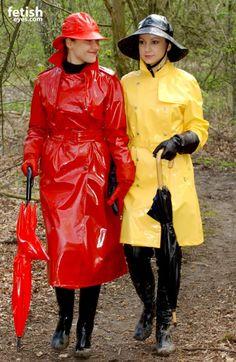 Lackmäntel Rot und Gelb