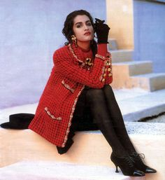 Yasmeen Ghauri for Chanel Fall 1990